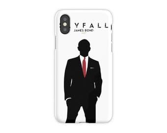 Skyfall, James Bond, funda para iPhone X, 8, 8 Plus, 7, 7 Plus, Iphone 6, 6s, 6 Plus, 6s Plus, 5/5s/SE, 5c, 4, 4s, Daniel Craig