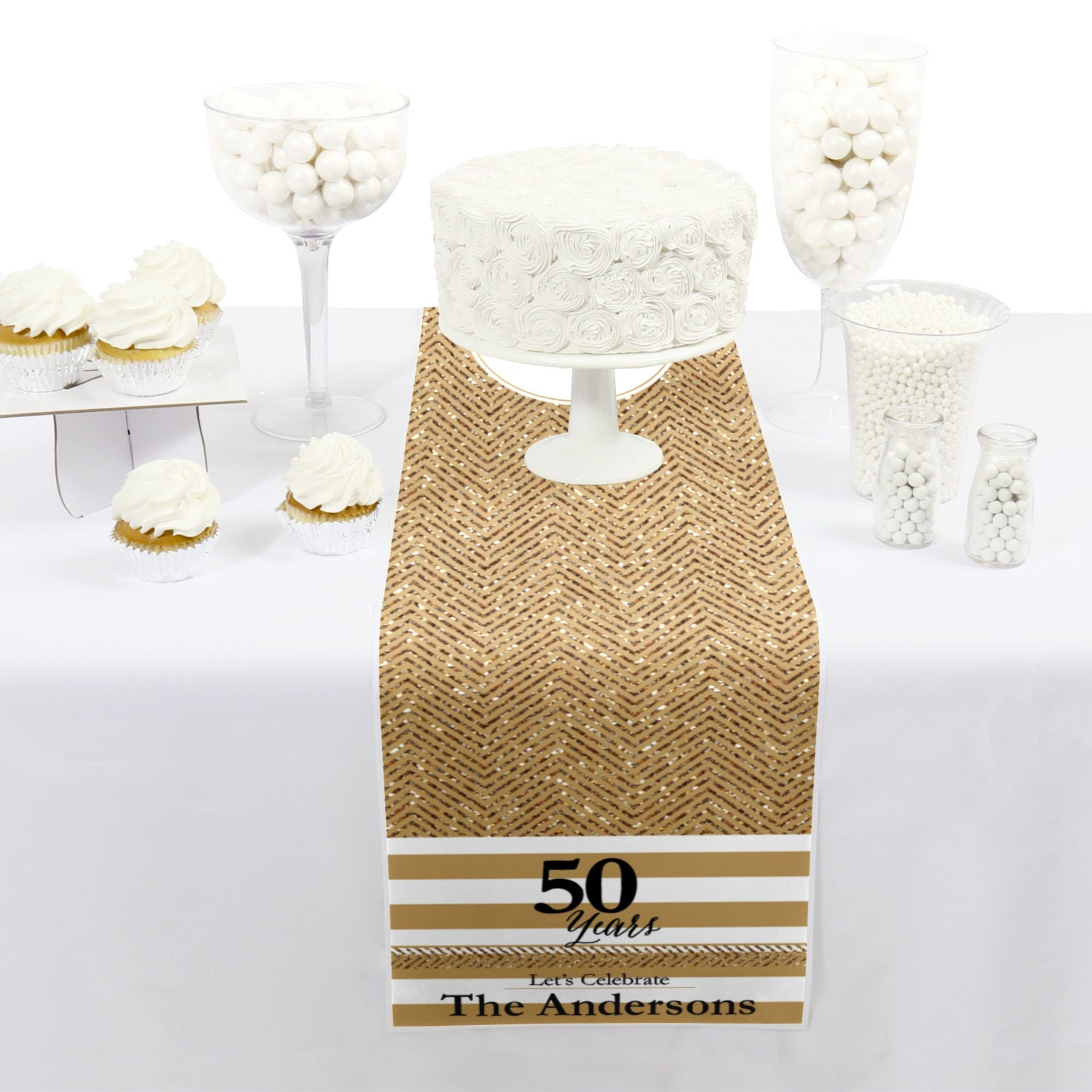 We Still Do - 50th Wedding Anniversary - Petite Table Runner ...