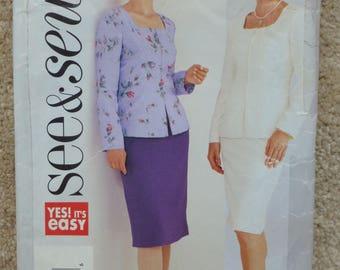 See & Sew pattern 3691  size 14-16-18