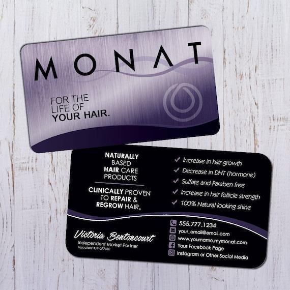 Monat business cards silver purple design with black back colourmoves