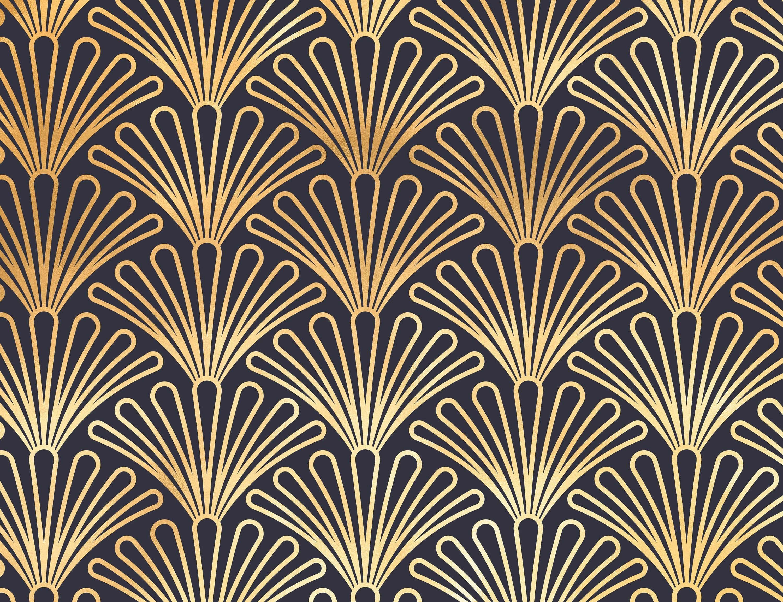Art Deco Wallpaper, 1930s Vintage Wallpaper, Retro
