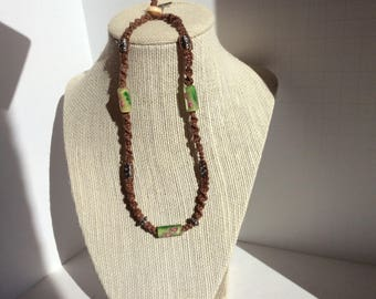 Brown Hemp Macrame Choker