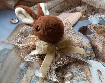 "Brooch/headdress ""Bunny"" (sweet lolita, classic lolita, dolly kei, ouji, mori, cult party kei, animal, toy, rabbit, otome)"