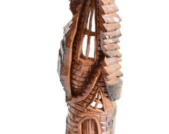 2015 - Alaskan Cottonwood Bark House Carving