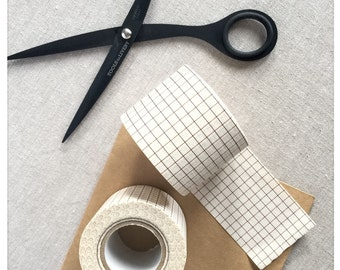 Nut Brown Grid Washi Tape - Classiky