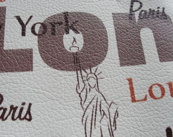 New York, London, Paris, Fake Leather Piece Statue of Liberty, Eiffel Tower, the Big Ben