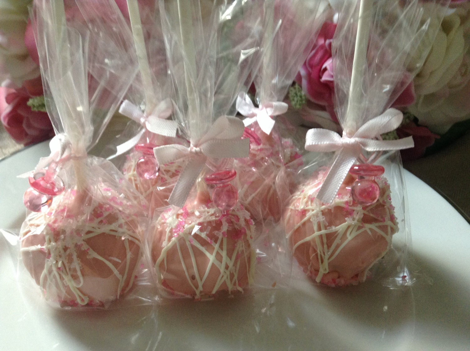 Pink Cake Pops Wedding Party Favors First