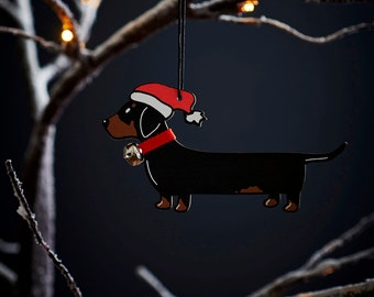 Dachshund Christmas tree decoration