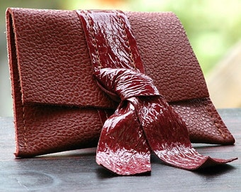 Women's  Leather Coin Purse - Brick Patent