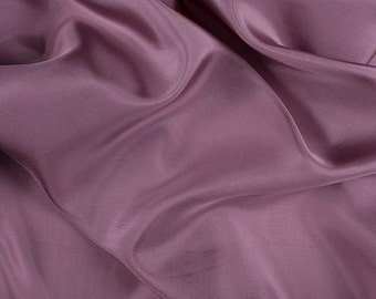 "45"" Wide 100% Silk Crepe de Chine Mauve Pink By the Yard (1200M116)"