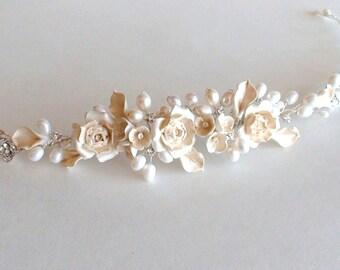 Bridal hair accessories. Wedding Hair Wreaths & Tiaras. Pearl/ Rhinestone Head piece. Wedding Hair Accessories