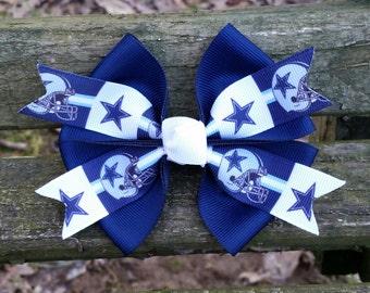 Dallas Cowboys Football Hair Bow (4 inch)