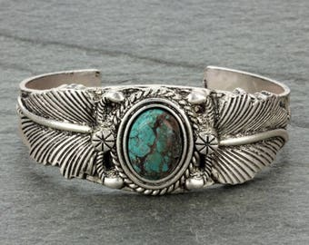 Natural Turquoise Cuff Bracelet