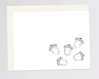 Acorn print Greeting Card