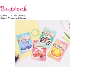 Buttock Post IT Notes Sticky Memo