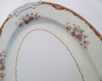 Vintage Jyoto China Oval Serving Platter 16 inch