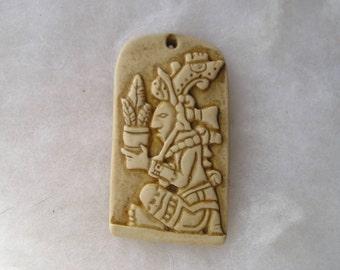 Unique Mayan Goddess of Corn Stone Pendant Diosa Maya Del Maiz