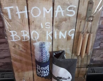 Personalised BBQ Plaque - Birthday- Novelty Gift Idea - Handmade - Fathers Day Gift - Gifts For Him