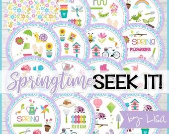 Spring SEEK IT Match Game, Springtime Matching Game, Gardening Game - Printable Instant Download by Lisa