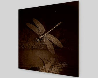 Dragonfly in Sepia