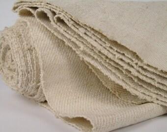 Grain Sack upholstering fabric runner cushion Vintage linen roll Stairrunner