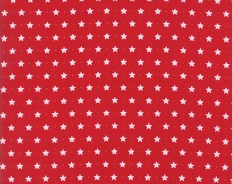 Sugar Plum Christmas Twinkle Stars Candy Red fabric by Bunny Hill Designs for Moda Fabric #2915-11