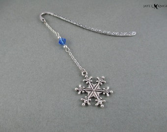 Snowflake Frozen Metal Bookmark - Silver