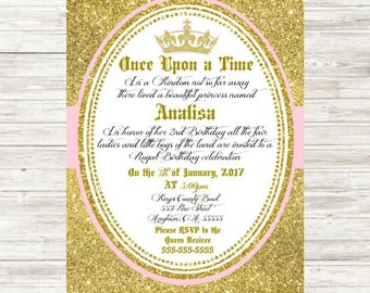 Royal Princess Birthday Invitation 5x7