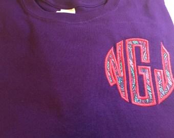 Monogram Shirt, Personalized Monogram Shirt,  Long Sleeve Tshirt