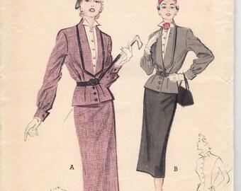 Bust 30-FACTORY FOLDED Misses' Two-Piece Suit-Dress Butterick 5445 Size 12