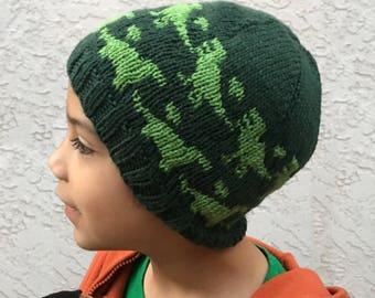 Knitting Pattern ~ Rawr Beanie ~ Knitting Pattern