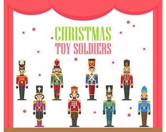 Nutcracker Collection of 8 Machine Embroidery Designs - Five Sizes: 3.5 to 5.5 inch - Instant Download!