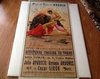 Plaza de Toros de Madrid  Vintage Poster 1956