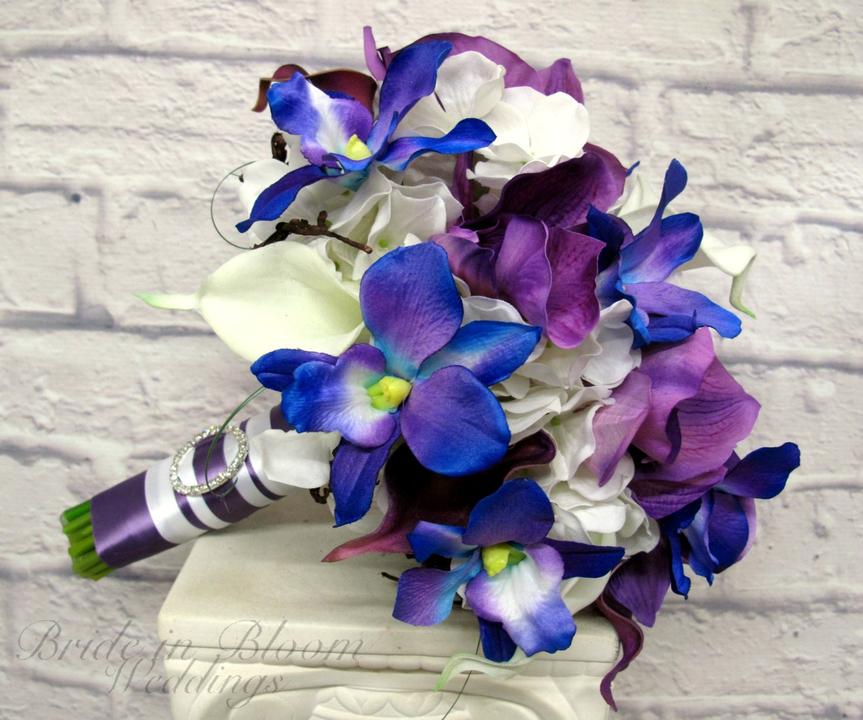 Blue orchid Wedding Bouquet