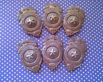 Chocolate Patrolman Police Badge favor