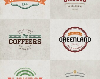 Modern and Creative Business Badge Logos Vector Pack
