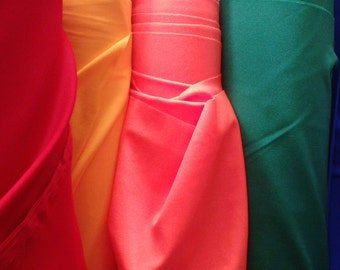 Nylon Spandex Fabric - Red, Yellow, Pink, Green, Blue