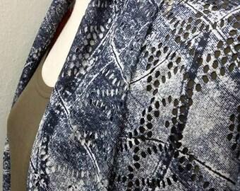 SUMMER SHWUG - Lace - Denim Knit