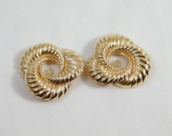 14kt Yellow Gold Sea Shell Earring Jackets