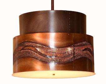 Copper Drum Light Pendant