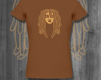 Dreaded Love T shirt Natural Hair tops and tees t-shirts t shirts| Free Shipping