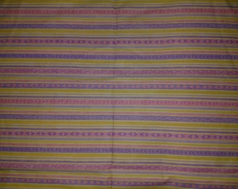 Debbie Mumm Yellow, Pink and Purple Stripe on White Fabric by the yard