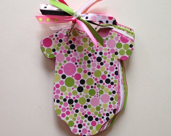 Baby Shower Advice Game, Couples Shower Games - PINK & GREEN POLKADOT Book - Advice for Mom Shower Game, Baby Girl Shower, Shower for 2 Moms