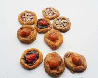 danish pastries x 9- 12th scale miniature
