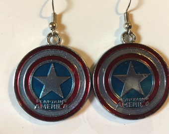 Captain America Earrings   J25