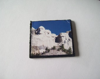 Dollhouse Wall Art Mt. Rushmore Bedroom Livingroom Miniture Decor