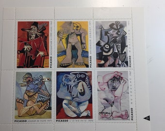 Picasso Six Nudes French Artists Stamps