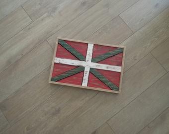 "Wooden ""Ikurrina"" Basque flag"