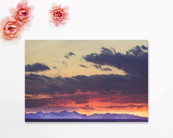 """Crazy Mountain Sunset"" - 40% off sale"