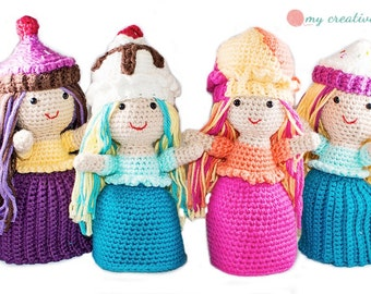 Sweet Treats Doll Collection - Amigurumi Crochet Topsy-Turvy Pattern